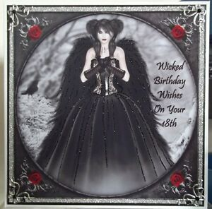 Image Is Loading HANDMADE GOTHIC WINTER PERSONALISED 18th BIRTHDAY CARD LADY