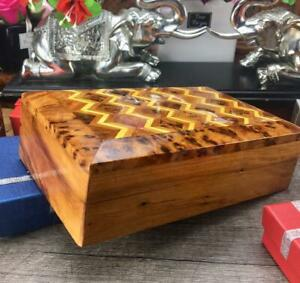 Chinese temple shaped storage box Morocco Jewelry exotic thuya wooden box