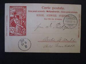 SUISSE-1900-Carte-postale-utilise-leger-pli-Z4974