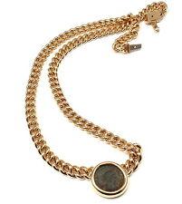Rare! Authentic Bvlgari Bulgari 18k Yellow Gold Ancient Coin Link Necklace Cert.
