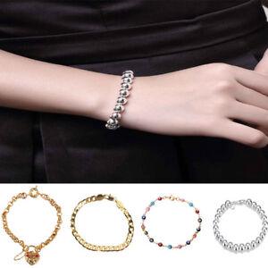 Bevelled-Curblink-Bracelet-Bangle-Wristband-Boy-Mens-Chain-Gift-Stainless-Steel