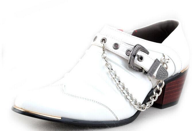 Uomo motore della in ferro, a punta il vestito della motore festa elegante scarpe punk 5d1323