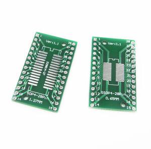 10PCS-SO28-SOP28-SSOP28-TSSOP28-SOIC28-to-DIP28-Adapter-Converter-PCB-Board