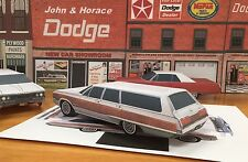 Papercraft 1968 Dodge Monaco Station Wagon Paper Car E Z U-build ToyModelCar