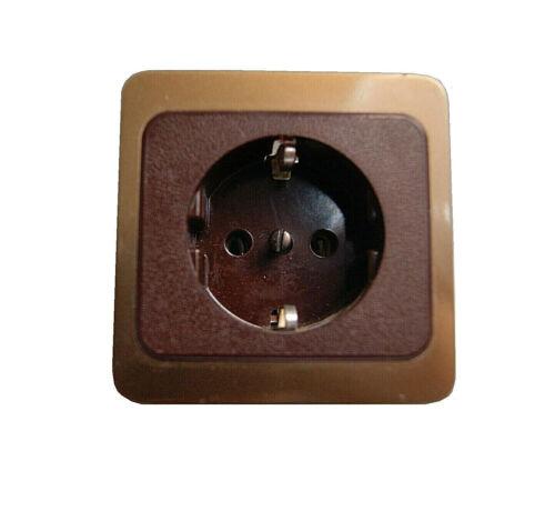 PEHA selecta 600 softline Steckdose mahagoni braun bronze