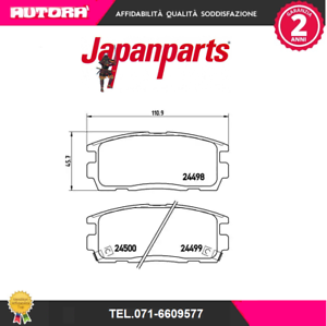 PPW04AF-Kit-pastiglie-freno-a-disco-post-Chevrolet-Opel-MARCA-JAPANPARTS