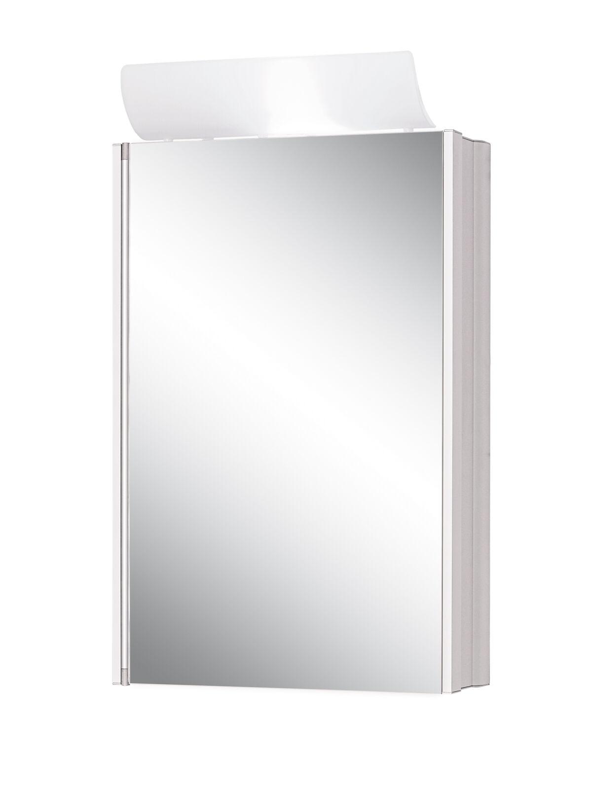 Jokey Spiegelschrank Singlealu Aluminiumspiegelschrank mit Beleuchtung Alibert