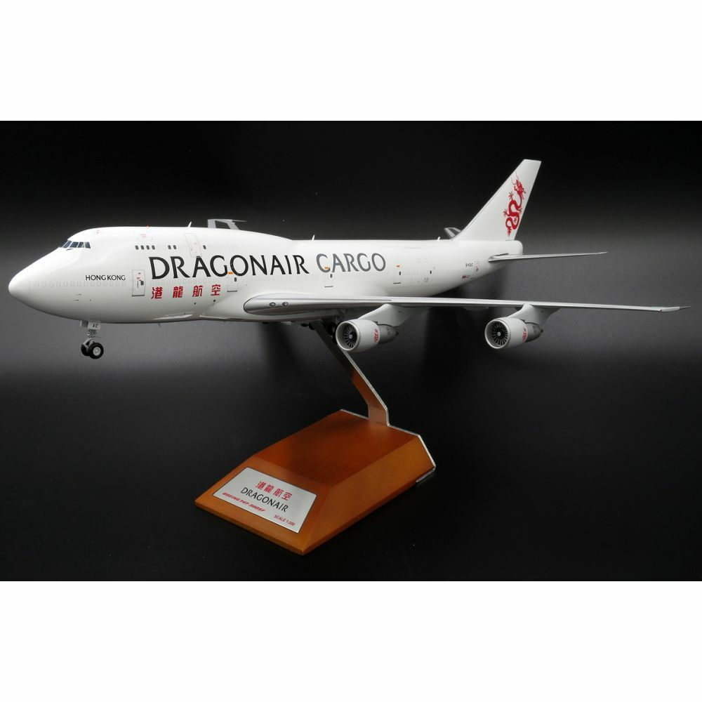 JC Wings LH2044 1 200 Dragonair Cargo B747-300F B-KAC con supporto