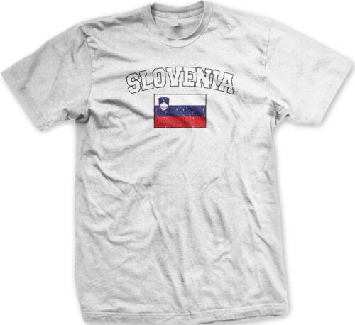 Slovenia Country Flag Slovenija Pride Football Soccer Mens T-shirt
