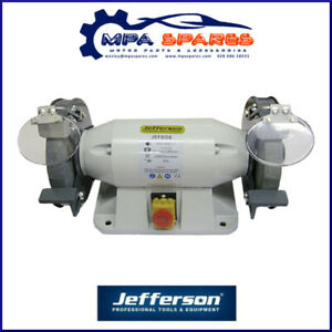 Enjoyable Details About Jefferson 8 Heavy Duty Bench Grinder 800W With Pre Drilled Holes Machost Co Dining Chair Design Ideas Machostcouk