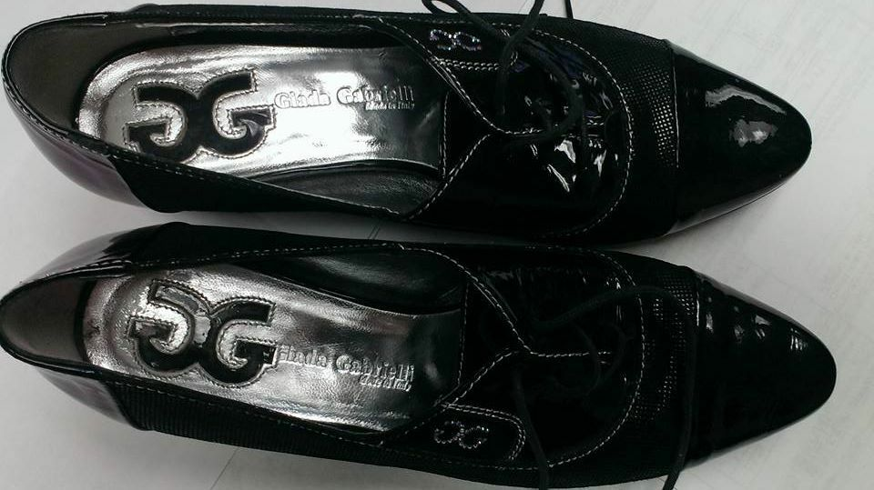 Giada Gabrielli Leather Lace-Up Shoes, Size 7, Made in Italy
