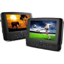 "Dual Screen Portable 9"" Dual DVD Player 12V DC Car Boat Kickstand MP3 Mpeg4"
