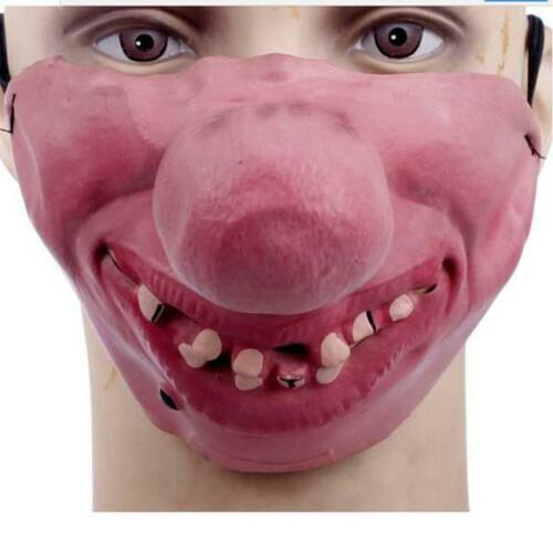 Half Face Comedy People Face Mask Stag Hen Latex Party Masks Masquerade IT