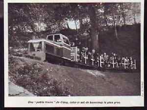 1970 -- PETIT TRAIN DE CLECY H019 - France - 1970 -- PETIT TRAIN DE CLECY il ne s'agit pas d'une carte postale , mais d'un beau document paru dans la rare vie du rail en 1970 le document GARANTI D'EPOQUE est en tres bon état et présenté sur carton d'encadrement format 150 X 120 mm FRAIS  - France