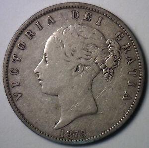 1878-Silver-Great-Britain-Half-Crown-UK-1-2-Crown-English-Circulated-Coin