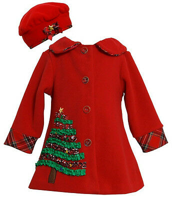 NEW Bonnie Jean Christmas Tree Peacoat  Red 12 Months 18 Months 24 Months