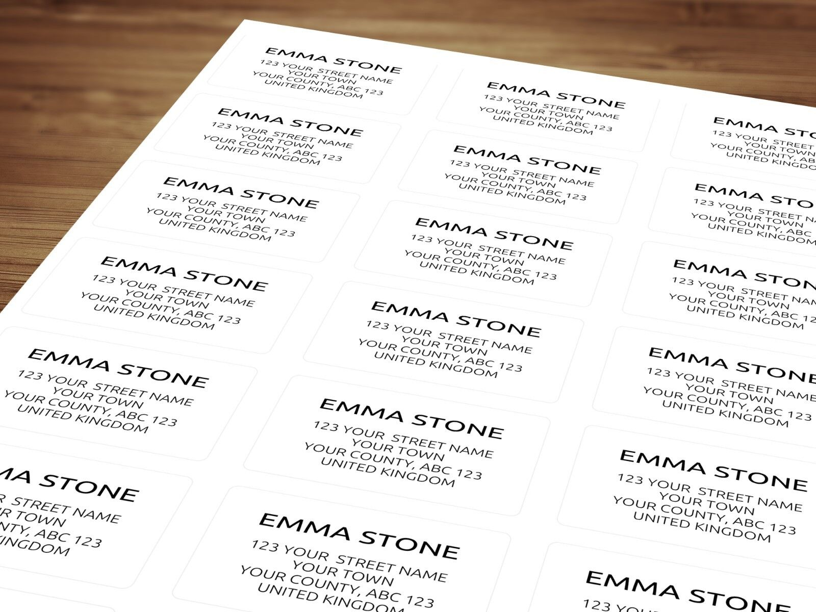 Details about personalized return address labels stickers for post modern minimal design