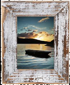 Bilderrahmen Holz Rustikal bilderrahmen aus echtem alt holz im landhaus stil vintage rustikal