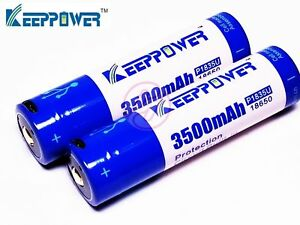 Keeppower-P1835U-3500-Micro-USB-Li-ion-Rechargeable-Japan-18650-Battery-x2