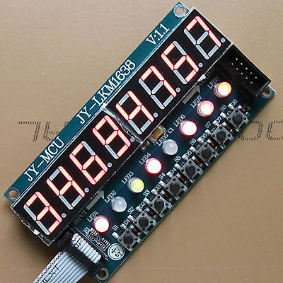 Digital Tube 8-Bit Key + TM1638 module + 8-Bit LED   for AVR Arduino ARM STM32