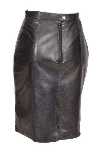 ajust cuir en Jupe coupe souple noir femmes pour q0HfZ 9810975d2d0