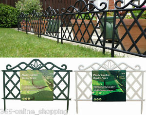 Image Is Loading Victorian Iron Effect Plastic Garden Flower Bed Lawn