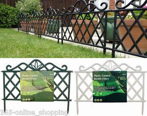 victorien fer effet jardin plastique plate bande gazon bordure cl ture panneau ebay. Black Bedroom Furniture Sets. Home Design Ideas