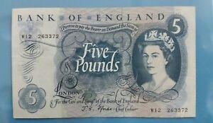 1966 - 70 Great Britain £5 EF+ <P-375b> J. S. Fforde