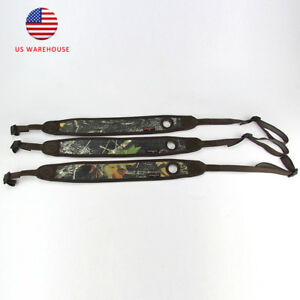 Tourbon-Rifle-Sling-Camo-Padded-Strap-Non-slip-Tactical-Hole-Gun-Hunt-Adjustable