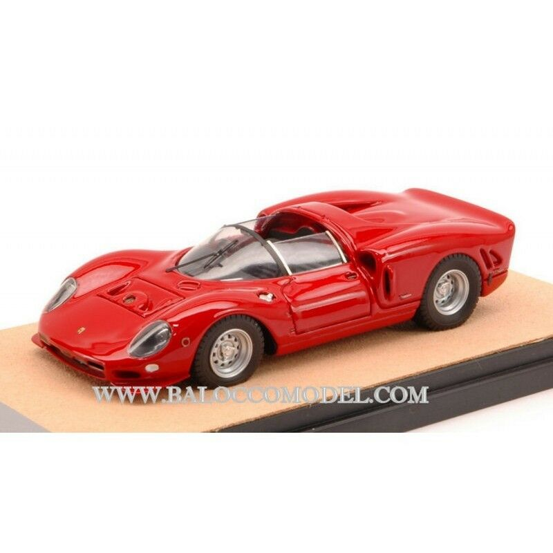 Tecnomodel TMDMI 54b FERRARI 365 p2 Le Mans Press 1966 rosso ed. LIM. pcs 40 1:43