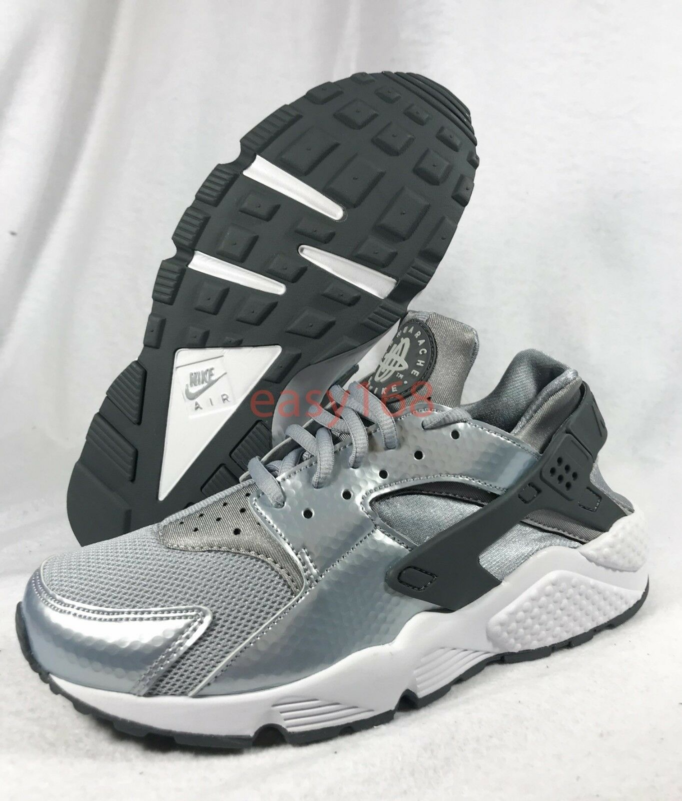 New Nike Air Huarache Sz 7.5 WMN's 38.5 Running shoes 634835 Silver Vapor Run