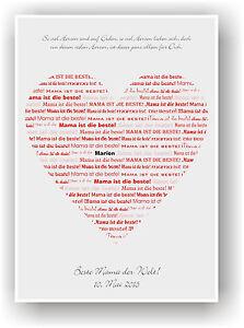 Muttertag Geschenk Geschenkidee Mama Herz Fur Mutter Liebeserklarung
