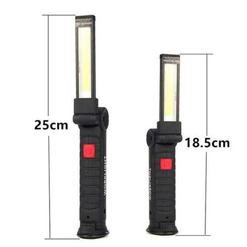 USB COB LED Magnetic Work Light Car Mechanic Home Rechargeable Torch Lamp Q1N0