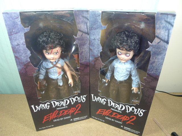 Mezco Living Dead Dolls LDD Evil Dead 2 Ash Normal & Variant Exclusive figure BN
