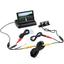 """Car Truck 4'3"""" TFT LCD Foldable Monitor Wired Backup Camera System 19.7"""" Cord"""