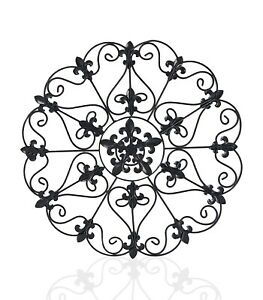 17-034-Metal-Round-Wall-Decor-Medallion-Iron-Home-Decor-Antique-Finish-Wall-Gril