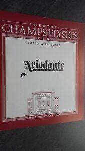 Folleto Opera Theatre Champs-Elysées Teatro Alla Scala Ariodante 1985 Tbe