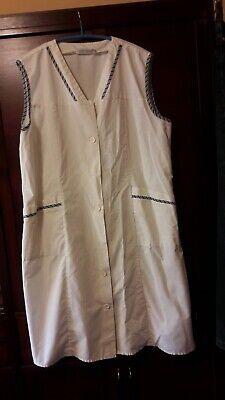 """Kasack Schürze - Marke """"linda Clifford"""" In Weiß, Gr. 48 - Baumw./polyester - 105 100% Hochwertige Materialien"""