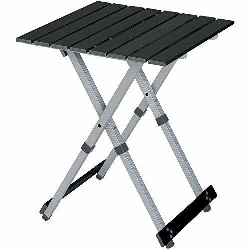 Compact Camp Outdoor Folding Table - Lightweight Stable & Telescoping Leg Design
