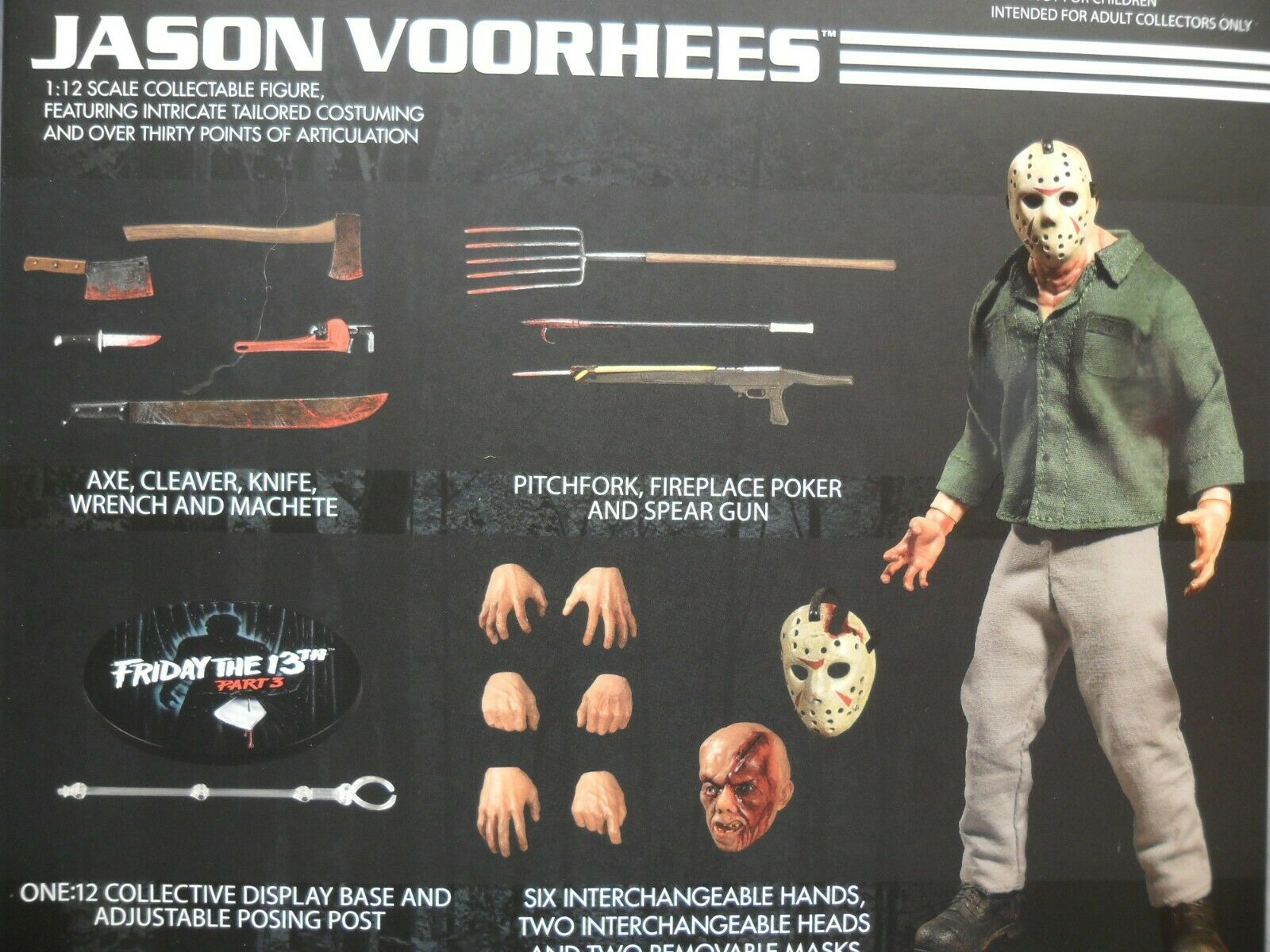 Mezco nuovo  One One One 12 Jason Voorhees  Friday the 13th Collective azione cifra 42a615