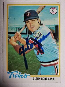 1978 Topps Glenn Borgmann Auto Autograph Card Twins Signed #307