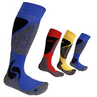 Men Boy Outdoor Sport Skiing Snowboard Hiking Snow Warm Long Socks Us 6-8 3color