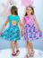Mädchen Sommer  Kleid  Kurzarm Gr 110,116