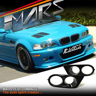 Covers for 1999-2006 E46 3-Series 3 Series M3 Style Front Bumper w//Clear Fog Lights