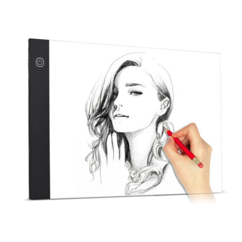 A4 Ultra-Thin LED Light Pad Box Painting Copyboard Adjustable Brightness M8O5