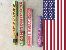 Proof Alcohol Hydrometer Sugar Meter Alcoholmeter Vinometer Test USA lot of 4