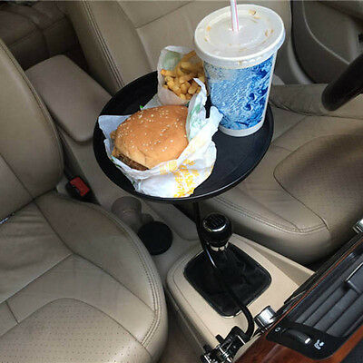 Car Auto Mount Holder Stand Travel Drink Cup Coffee Table Desk Food Tray Dining=