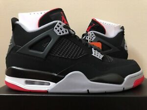 Air-Jordan-Retro-4-Bred-Black-Red-308497-060-Size-8-15-LIMITED-100-Authentic