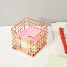 Metal Memo Pads Notes Holder Box Hollow Out Pen Holder Box For Office School