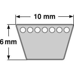 Klassischer-Keilriemen-Profil-Z-10-mm-DIN-2215-von-380-mm-bis-1360-mm